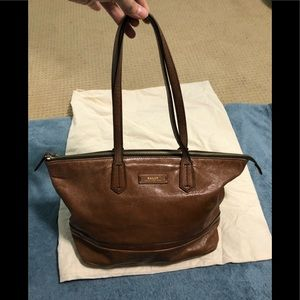 Bally caramel vintage bag